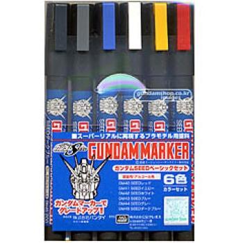 건담마커 SEED 베이직  6색 세트(GMS-109) -강력추천