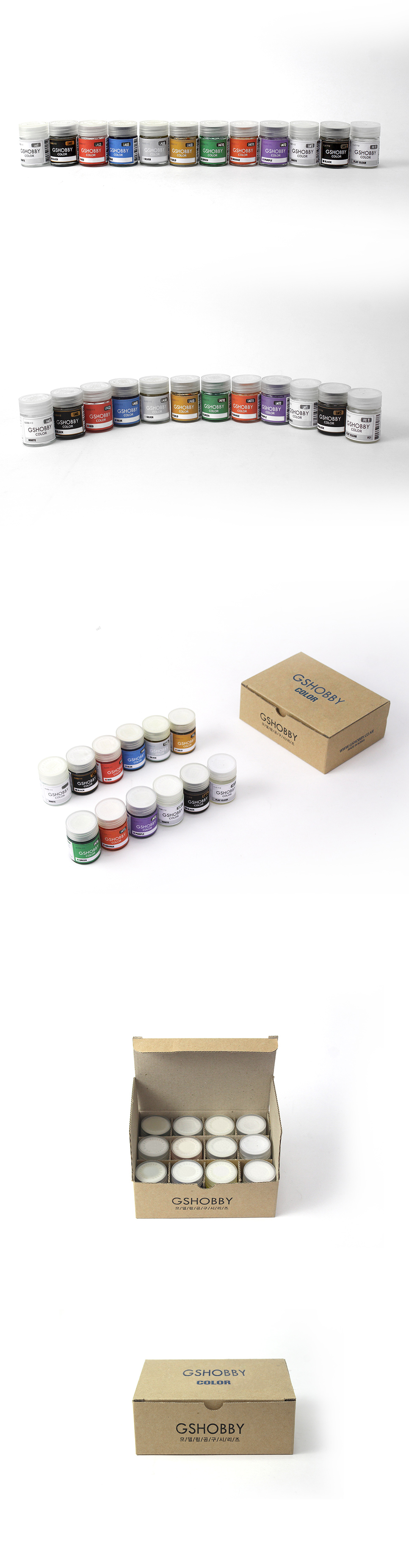 [ Future Cyber ] Modeling Paint Color 12set(11color+clear) 20ml